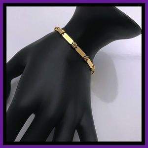 Other - Dainty Lay Flat Gold Tone Bracelet